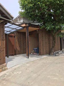 納屋の屋根を改修2
